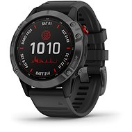 Garmin Fenix 6 Pro Solar, Slate Grey, Black Band