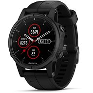 Garmin Fenix 5S Plus Sapphire Black Optic Black Band - Chytré hodinky