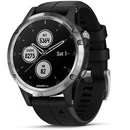 Garmin Fenix 5 Plus Silver, Black Band - Smartwatch