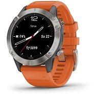 Garmin Fénix 6 Sapphire, Titanium/Orange Band - Chytré hodinky