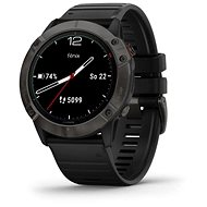 Garmin Fenix 6X Solar, TitaniumGrayDLC, Black Band (MAP/Music) - Smartwatch