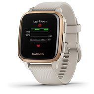 Garmin Venu Sq Music RoseGold/Sand Band - Chytré hodinky