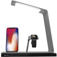 4smarts Charging Station TwinDock Wireless 2 with LED Lamp for iPhone, Apple Watch - Bezdrátová nabíječka