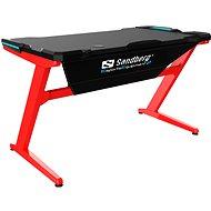 Sandberg Fighter Gaming Desk černo/červený - Herní stůl