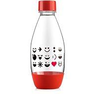 SodaStream Lahev dětská 0.5l Smajlík červená - Náhradní láhev