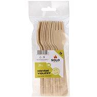 SOLO Vidličky dřevěné 16cm/12ks - Jednorázové nádobí