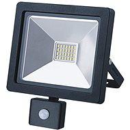 LED venkovní reflektor SLIM, 20W, 1400lm, 3000K, se senzorem, černý - LED reflektor