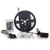 LED světelný pás, RGB, 3m, sada s 12V adaptérem a dálk. ovladačem, 7,2W/m, IP20
