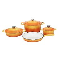 CS Solingen XANTEN oranžová, litinová 7ks - Sada nádobí