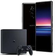 Sony Xperia 1 černá + PlayStation 4 Fortnite - Mobilní telefon