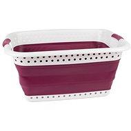 Kleeneze 37L, fialový - Koš na prádlo