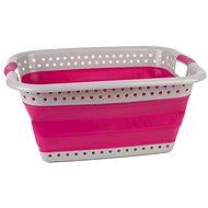 Kleeneze 37L, růžový - Koš na prádlo