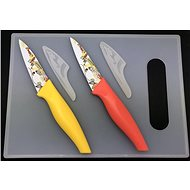 SOVIO set of 2 knives + cutting board SV-N02PSL sheet - Knife Set