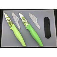 SOVIO set of 2 knives + cutting board SV-N02PSB bam. - Knife Set