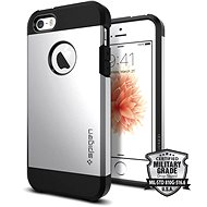 SPIGEN Tough Armor Satin Silver iPhone SE/5s/5 - Ochranný kryt