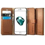 Spigen Wallet S Brown iPhone 7 Plus /8 Plus - Pouzdro na mobilní telefon