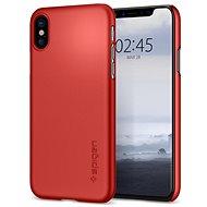 Spigen Thin Fit Metallic Red iPhone X - Ochranný kryt