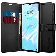 Spigen Wallet S Saffiano Black Huawei P30 Pro - Kryt na mobil