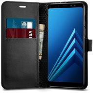 Spigen Wallet S Black Samsung Galaxy A8 (2018) - Ochranný kryt