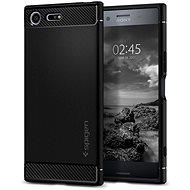 Spigen Rugged Armor Black Sony Xperia XZ Premium - Kryt na mobil