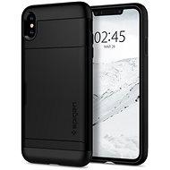 Spigen Slim Armor CS Black iPhone XS Max - Kryt na mobil