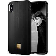 Spigen La Manon Classy Black iPhone XS Max - Kryt na mobil