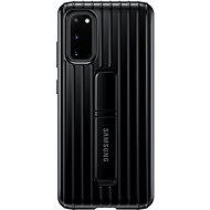 Samsung  Tvrzený ochranný zadní kryt se stojánkem pro Galaxy S20 černý - Kryt na mobil