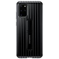 Samsung  Tvrzený ochranný zadní kryt se stojánkem pro Galaxy S20+ černý - Kryt na mobil