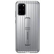 Samsung  Tvrzený ochranný zadní kryt se stojánkem pro Galaxy S20+ stříbrný