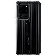 Samsung  Tvrzený ochranný zadní kryt se stojánkem pro Galaxy S20 Ultra černý