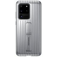 Samsung  Tvrzený ochranný zadní kryt se stojánkem pro Galaxy S20 Ultra stříbrný