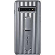 Samsung Galaxy S10 Protective Standing Cover stříbrný - Kryt na mobil
