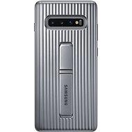 Samsung Galaxy S10+ Protective Standing Cover stříbrný