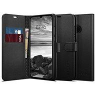 Spigen Wallet S Saffiano Black Huawei P30 Lite - Kryt na mobil