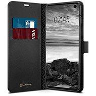 Spigen La Manon Wallet Black Samsung Galaxy S10 - Kryt na mobil