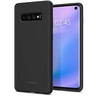 Spigen Silicone Fit Black Samsung Galaxy S10 - Kryt na mobil