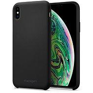 Spigen Silicone Fit Black iPhone XS Max - Kryt na mobil