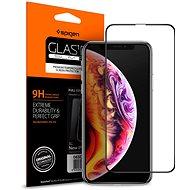 Spigen Glass FC HD Black iPhone 11 Pro Max/XS Max - Ochranné sklo