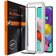 Spigen AlignMaster FC Black Samsung Galaxy A51 - Ochranné sklo