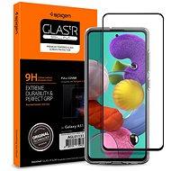 Spigen Glass FC Black Samsung Galaxy A51 - Ochranné sklo