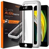 Spigen AlignMaster FC Black iPhone SE 2020/8/7 - Ochranné sklo