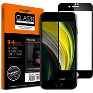 Spigen Glass FC HD Black iPhone SE 2020/8/7 - Ochranné sklo