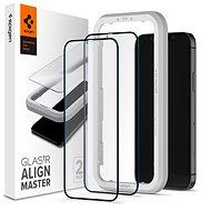 Spigen Glas tR ALM FC Black 2P iPhone 12 Pro Max - Ochranné sklo