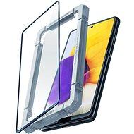 Spigen AlignMaster FC Black Samsung Galaxy A72 - Ochranné sklo
