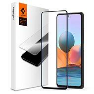 Spigen Glass FC Black Xiaomi Redmi Note 10 - Ochranné sklo