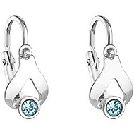 EVOLUTION GROUP 31198.3 Aqua Children's with Swarovski® Crystals (Ag925/1000, 1,1g) - Earrings