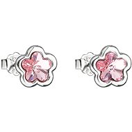 EVOLUTION GROUP 31255.3 lt. rose flower bow tie decorated with Swarovski® crystals (Ag 925/1000,