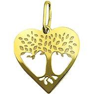 PRAQIA Zlaté srdce PA7002 (Zlato 585/1000, 0,30 g) - Přívěsek