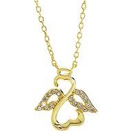 JSB Bijoux Stříbrný Anděl s křišťálovými kameny Swarovski® pozlacený 92300406g (Ag 925/1000, 1,97g) - Náhrdelník