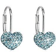 EVOLUTION GROUP Stříbrné visací srdce dekorované krystaly Swarovski® 31125.3 (Ag925/1000, 1 g, modré - Náušnice